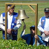 "Staff photo by Mark Hughes<br /> Ken Recoy of the United States Submarine Veterans Inc. tolls the<br /> bell after the name of each submarine lost at sea is called out. Recoy<br /> said the purpose of the ceremony was to perpetuate the memory of<br /> those on ""eternal patrol."""