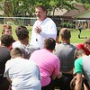 JOHN HASLER/Special to the Phoenix<br /> New Hilldale football coach Greg Werner addresses the team on the first day of spring practice on Monday. Werner replaced Chad Kirkhart who resigned in March after eight seasons.