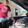 CATHY SPAULDING/Muskogee Phoenix<br /> A HEMI engine adds power to Larry Tripp's 1962 Dodge Dart, which he has entered in Saturday's Cruis'n Angels Car Show.