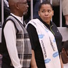 Phoenix special photo by John Hasler<br /> Shonika Breedlove, right, succeeds Doyle Rowland, left, as Muskogee's new girls basketball coach after her hire was approved at Tuesday's board meeting.