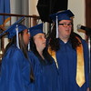 "Staff photo by Cathy Spaulding<br /> Oklahoma School for the Blind seniors, from left, Destiny Starr Tanyan, Allison Makayla Fetner and valedictorian Jennifer Joy Nicole Ratliff sing during Wednesday's commencement for the OSB Class of 2016. Eight members of the Oklahoma School for the Blind Class of 2016 graduated Wednesday. Salutatorian Logan James McCoy and valedictorian Ratliff gave speeches. News on 6 anchorman Craig Day told graduates ""often what people think of as overnight successes are people who put in years and years of hard work."""