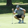 "NATHAN DEAL/Muskogee Phoenix<br /> Daniel Miernicki studies a putt on the seccond green Friday during play in the Muscogee Creek Nation Casinos Real Okie Championship being played at Muskogee Golf and Country Club. For today's tee times, go to <a href=""https://bit.ly/2ka9Lw8"">https://bit.ly/2ka9Lw8</a>"