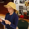 MIKE ELSWICK/Muskogee Phoenix<br /> Fourth-grade student Jillian Bauers acts out the role of naturalist Jane Goodall during Friday's living history museum presentation at Grant Foreman Elementary School.
