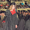 CATHY SPAULDING/Muskogee Phoenix<br /> Kylie Howell shows off a diploma designating her as a Hilldale High School graduate Saturday during Hilldale commencement ceremony.
