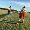 Special photo by Travis Sloat<br /> Matthew Burris, left, carries one of his donated benches to a soccer field with his brother, Braden Burris.