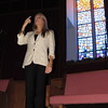 Staff photo by Cathy Spaulding<br /> Nikki Wallace does sign language to the Lord's Prayer. She said she became interested in sign language when she was a teen.