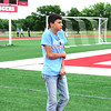 Staff photo by Cathy Spaulding<br /> Chandler Wing, an eighth-grader, shivers in the cold but continues his walking.