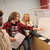 Staff photo by Cathy Spaulding<br /> New Tech Academy students, from left, Chris Jones, William McIntire and Haidyn Henry, show their ideas on how to improve Arrowhead Mall. The group was among 24 groups showing ideas on Tuesday.