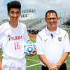 Phoenix special photo by John Hasler<br /> MVP Yassine Kharrazi and Coach of the Year Todd Friend, both from Fort Gibson's state championship team.