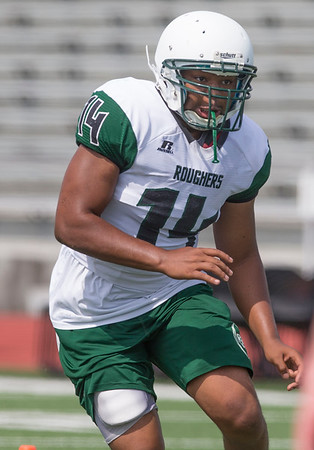 VON CASTOR/Phoenix Special Photo<br /> Trey Harris took a year off of football to focus on high academic work. Now he's back and listed as a likely starter at linebacker for Muskogee.