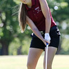 Special photo by John Hasler<br /> Eufaula's Melissa Eldredge chips onto the fourth green during Thursday's final round of the Class 3A golf tournament.