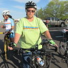 CATHY SPAULDING/Muskogee Phoenix<br /> Vicki Herringshaw prefers riding with her bicycle handlebars turned up. She says it's more comfortable.