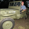 Staff photo by Cathy Spaulding<br /> Brad Hammack sits in the 1942 Willys Jeep his father restored. He will drive the vehicle in Tahlequah and Muskogee Veterans Day parade.