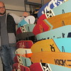 Staff photo by Cathy Spaulding<br /> A favor for a son turned into a small business for Jon Vanderveer, who makes skateboards. He will sell them at the Frost on the Pumpkin Festival.