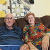 Staff photo by Cathy Spaulding<br /> I.B. and Marie Branscum say faith and hard work pulled them through 70 years of marriage.