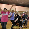 "Staff photo by Cathy Spaulding<br /> Dancers, from left, Kelly Bird, Gracie Cook, Terri Meadows, Kim Winston, Sharon Riggs, Isabel Cockle and Julie Battenfield add a final flash to ""Turn the Beat Around."" The group will perform this weekend at Senior Follies."""