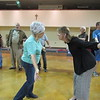 "Staff photo by Cathy Spaulding<br /> Lillian Jayne, left, faces Peggy Harris while rehearsing ""At the Roxy"" recently. The dance is part of the Senior Follies, ""Live, Love and Laugh"" this weekend at the Roxy Theater."