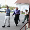 Staff photo by Harrison Grimwood<br /> David D. Martin, 31, convicted of first-degree murder, is flanked by law enforcers as they take him back to the McIntosh County jail after a jury sentenced him to life without the possibility of parole.