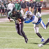 Phoenix special photo by Shane Keeter<br /> Muskogee's D.J. Mayes tries to stretch out yardage on a reception last week against Sapulpa. Muskogee closes the regular season at Ponca City on Friday.