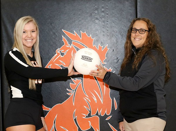 JOHN HASLER/Special to the Phoenix<br /> Off state-bound efforts, Okay's Lexi Erb is this year's Most Valuable Player and Andrea Collins is Coach of the Year.