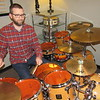 CATHY SPAULDING/Muskogee Phoenix<br /> Percussion teacher Jeff Jones has beat countless drums since he saw a Motley Crue concert in the fifth grade.