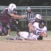 JOHN HASLER/Special to the Phoenix<br /> Eufaula's Kendan Watson sacks Coalgates' Austin Lambert at the Class 2A second-round game Friday night. Eufaula advances to the quarterfinals 30-14.