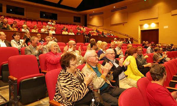 "Special photo by Mandy Lundy<br /> Donors and board members of the Muskogee Little Theatre give their approval after watching a scene from ""Mary Poppins"" on Wednesday."