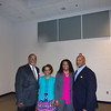 Special Photo by Wendy Burton<br /> Pastor Leroy Walker, left, Clara Walker, Shanda Biglow and Keith Biglow pause for a group photo before the Muskogee Civitan Club's 60th Anniversary Gala in which Leroy Walker and Keith Biglow were two of 12 honorees for their community service.