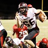 Phoenix special photo by Von Castor<br /> Hilldale's Josh Cramer returns a fumble during the Hornets' 63-28 district championship clinching win on Friday in Stilwell.