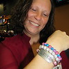 Staff photo by Cathy Spaulding<br /> Amy Walters takes pride in a bracelet that proclaims she is a survivor of breast cancer. Walters was diagnosed at 34.
