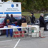 Staff photo by Mike Elswick<br /> About 60 medical professionals and students were on hand Friday to provide free flu vaccines to several hundred people who showed up for the annual Boo on the Flu event. Health officials said there is plenty of time for area residents who have not gotten their flu shots to do so.