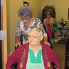 Staff photo by Cathy Spaulding<br /> Mary Ross wheels Florence Claunts out of a Monday chapel service at The Springs senior care and skilled nursing center. Ross visits the center each Monday.