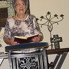 Staff photo by Cathy Spaulding<br /> Mary Ross, 92, leads singing during a Monday chapel service at The Springs senior care and skilled nursing facility. She began a nursing home ministry 33 years ago.