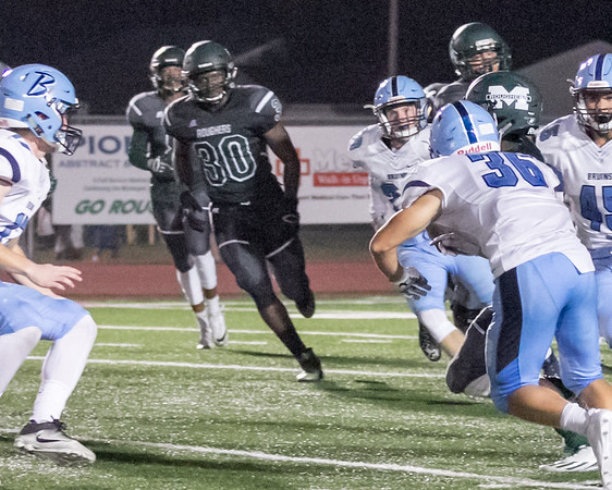 Phoenix special photo by Shane Keeter<br /> Muskogee's Mike Edwards, center, needs no special motivation heading into this Friday's game at Sand Springs. Edwards had to leave last year's contest, a last-second loss to the Sandites, after hitting his head on the turf.