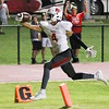 Phoenix special photo by John Hasler<br /> Rusty Rudd scores the final touchdown for Fort Gibson in a 20-point fourth quarter that gave the Tigers a 33-28 win over Metro Christian last week to stay tied for first in District 4A-4.