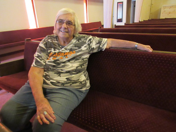 """Lucille Smith recalls first attending Okay Christian Fellowship 70 years ago and coming """"home."""" The church marks its 75th anniversary on Oct. 27."""