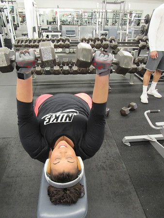 BrandyAnn Brior works out at Strictly Fitness. She said working out is as relaxing as reading.