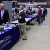 Staff photo by Mike Elswick<br /> More than 40 businesses and community resource organizations set up booths at Wednesday's business and resource fair held at Muskogee Civic Center. Some groups were accepting job applications while others were passing out information on services they offer.