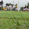 Staff photo by Cathy Spaulding<br /> Hilldale Hornets practice on a field next to the stadium. Coach Chad Kirkhart said the team could practice more in the stadium if it had durable artificial turf, part of a $15 million bond issue facing voters Tuesday.