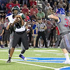 Phoenix special photo by Shane Keeter<br /> Muskogee's Quintevin Cherry had over 100 yards receiving against Bixby last week.