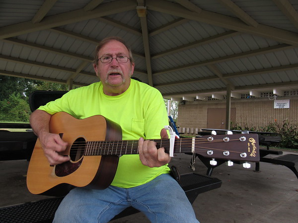 CATHY SPAULDING/Muskogee Phoenix<br /> James Kelton has played guitar since he was 13. He gets into gospel and bluegrass music.
