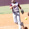 Phoenix special photo by John Hasler<br /> Madi Joice no-hit Adair 2-0 in the first of two Class 3A regional tournament vic- tories Wednesday for the Sequoyah Lady Indians