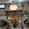 CATHY SPAULDING/Muskogee Phoenix<br /> Lonnie Orman uses a raised drafting table as a pulpit<br /> at New Life Assembly of God. He and his wife<br /> opened the church in 2014.