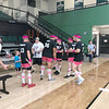MARCI DIAZ APPLE/Muskogee Phoenix<br /> Nine teams participated in Saturday's Great American Dodgeball Festival to benefit A Soldier's Child Foundation, an organization that helps children of soldiers who died while serving their country. Members of Pinky's Smoke Shop dodgeball team, the Ball Huggers, congratulate each other after winning the festival at Ron Milam Gymnasium on Saturday. The team was comprised of captain Michael Mace, Jaden Muskrat, Teddy McElroy, Cooper Holman, Dustin Clark, Jordan Hensley and Tyler Warren. Ryan Hardaway said the event raised $4,000.