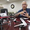 CATHY SPAULDING/Muskogee Phoenix<br /> Jason Unwin uses two drones to lift his interest in photography to new heights.