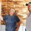 KENTON BROOKS/Muskogee Phoenix<br /> Owner Tom Jones, left, talks with contractor Garry McElmurry about his plans for the Patio on the Hill. Jones is converting an old barn into a multipurpose venue for weddings, dances, parties and other entertainment to be used weekly. The 40-acre property is at 1667 E. 100th St. N. in Wagoner County.
