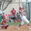 JOHN HASLER/Phoenix special photo<br /> Fort Gibson's Mesa Gann hits a two-run triple in the third inning on Monday.
