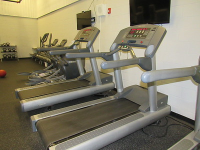 CATHY SPAULDING/Muskogee Phoenix Treadmills and stepping machines are among cardiovascular options at Muskogee Public Schools Fitness Center.