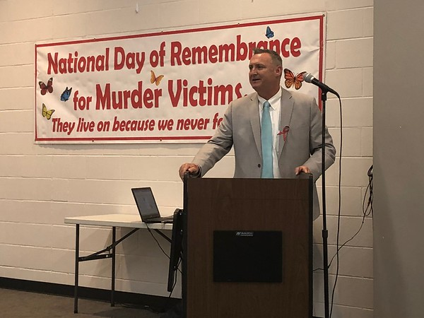 CHESLEY OXENDINE/Muskogee Phoenix<br /> Muskogee County District Attorney Orvil Loge spoke at the National Day of Remembrance ceremony held at the Dr. Martin Luther King Jr. Community Center on Tuesday night.