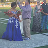 CHESLEY OXENDINE/Muskogee Phoenix<br /> James Gilbreth crowns his daughter, Silvia Gilbreth, the Fort Gibson All-School Homecoming Queen on Friday.